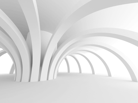 modern architecture: Abstract Architecture Modern Design Background. 3d Render illustration Stock Photo