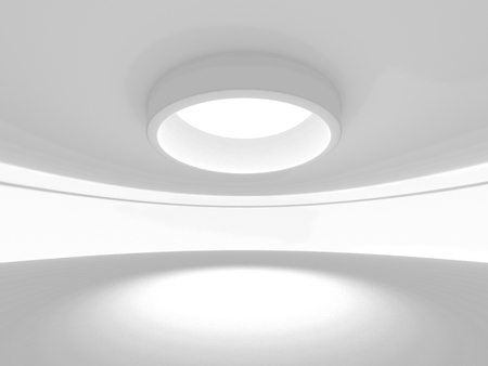 skylight: Empty Room Interior Architecture Background. 3d Render Illustration