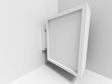absract: Absract Blank gallery Screen Banner. Architecture Interior Bakcground. 3d Render Illustration