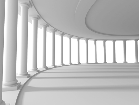 pillars: pillars columns design architecture background. 3d render illustration