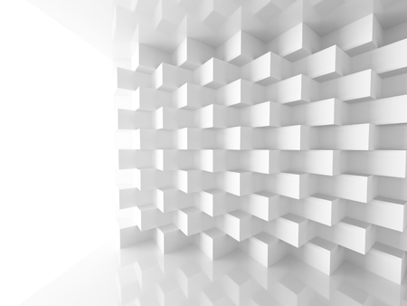 architecture abstract: Abstract Geometric Architecture Pattern Background. 3d Render Illustration Stock Photo