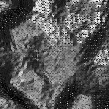 decorration: Abstract Glossy Silver Alluminium Background. 3d Render Illustration