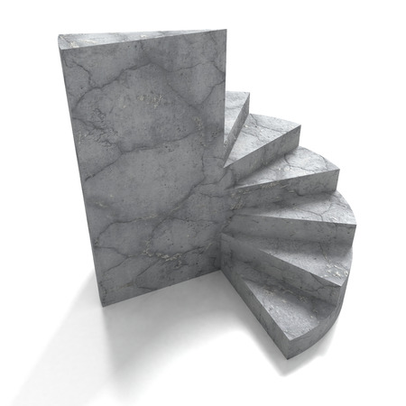 concrete stairs: Concrete stone ladder stairs on white background. 3d render illustration