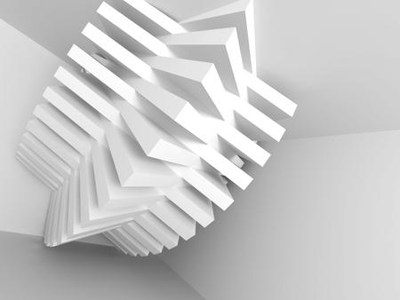 Abstract Architecture Background. Interior Design Element. 3d Render Illustration