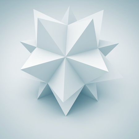 keen: Abstract Geometric Shape Design Element. 3d Render Illustration