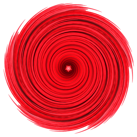 Red swirl spiral abstract background. 3d render illustration