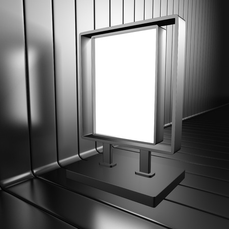 bilboard: Blank outdoor citylight banner bilboard. 3d render illustration Stock Photo