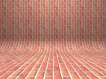 red brick wall: Abstract red brick wall architecture background. 3d render illustration