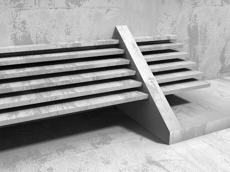 Architectuur geometrische minimalistische achtergrond. Urban betonconstructie. 3D render illustratie