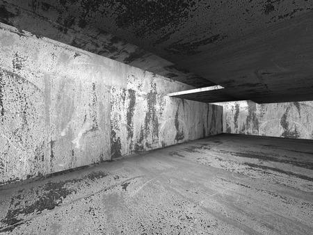 urban background: Empty dark abstract concrete room interior. Architecture urban background. 3d render illustration