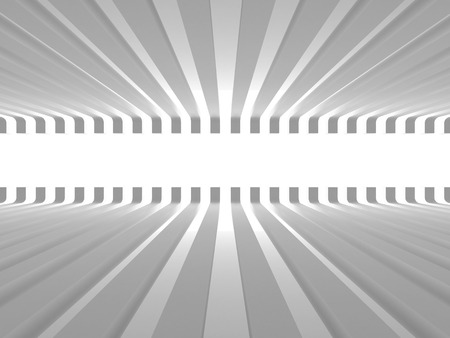 stage door: Abstract white architecture background. Empty room with light. 3d render illustration Stock Photo