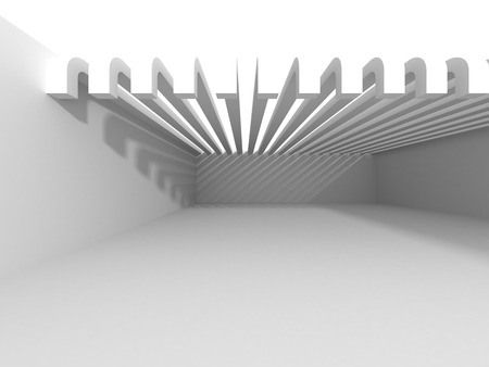 Abstract Concrete Architecture Construction Background. 3d render illustration