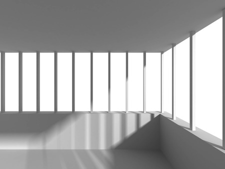 pitched roof: Abstract Architecture White Building Design Background. 3d Render Illustration Stock Photo