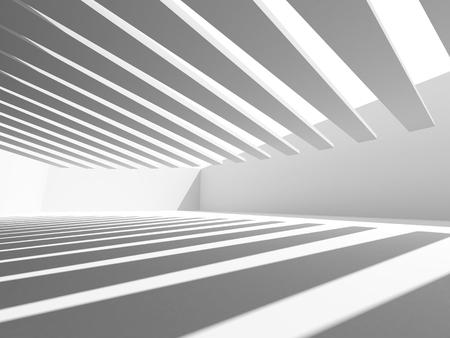 stage door: White Architecture Construction Modern Interior Background. 3d Render Illustration Stock Photo