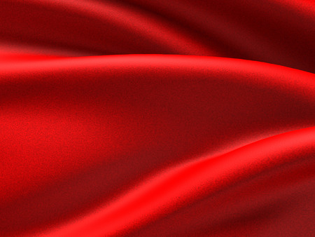Abstract soft red silk waves cloth background. 3d render illustration
