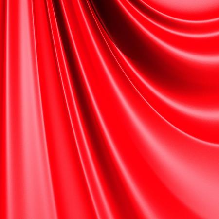 folds: Red elegant cloth textile folds background. 3d render illustration