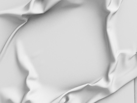 white satin: White satin cloth background with folds. 3d render illustration