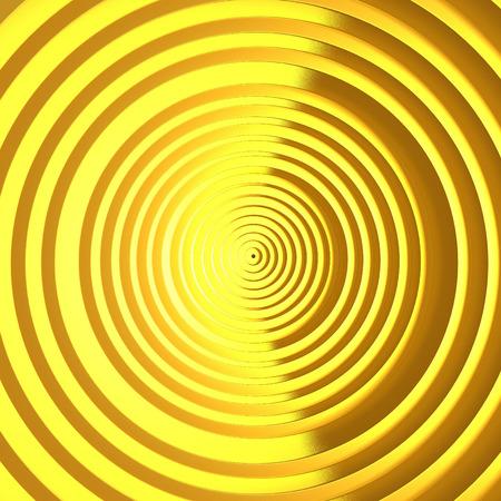 wallpaper copper gold golden: Luxury golden cirrcles pattern bright background. 3d render illustration Stock Photo