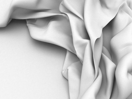 White satin silk texture clean soft background. 3d render illustration Stock Photo
