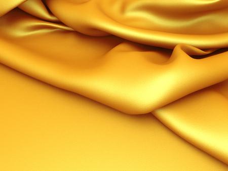 Smooth elegant golden cloth background. 3d render illustration