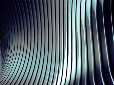Abstract silver aluminium stripe dark metallic background. 3d render illustration Stock Photo