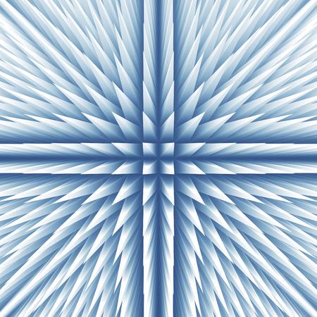 Abstract poligonal geometric white blue background. 3d render illustration