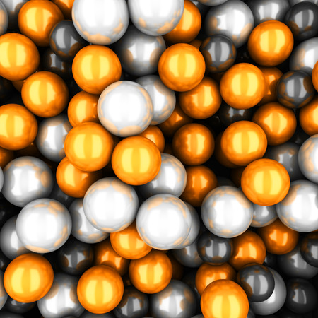 Colorful glossy spheres abstract background. 3d render illustration