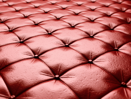 chesterfield: Red leather upholstery chesterfield style background. 3d render illustration
