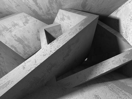 コンクリート建築の暗い背景を抽象化します。3 d レンダリングのバック グラウンド