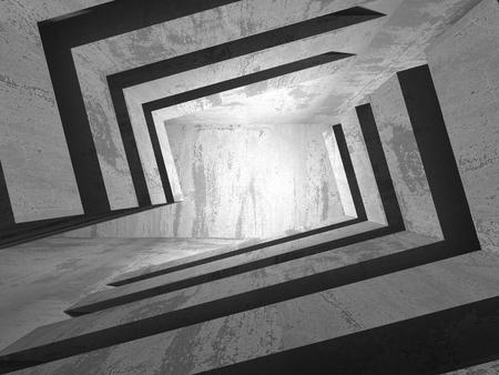 muddy: Dark basement empty room interior. Concrete walls. Architecture background. 3d render illustration