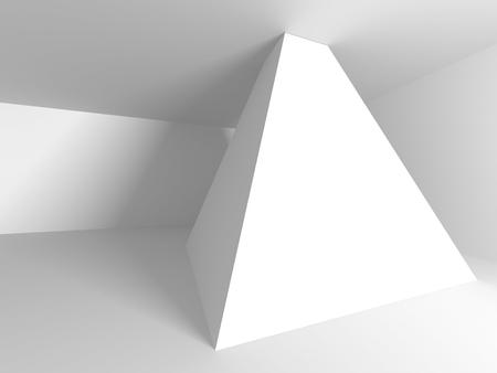 futuristic interior: Abstract Modern White Architecture Background. 3d Render Illustration Stock Photo
