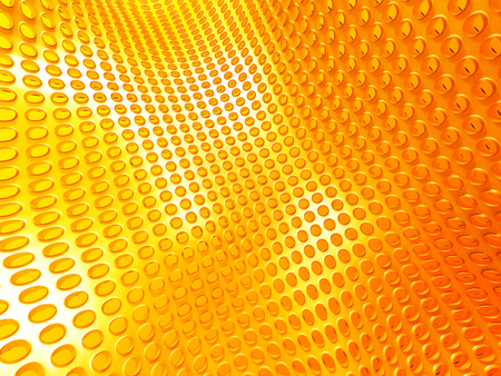 Yellow Industrial Metallic Shiny Background. 3d Render Illustration