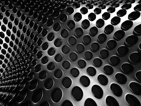 Abstract Dark Metallic Shiny Industrial Background. 3d Render Illustration