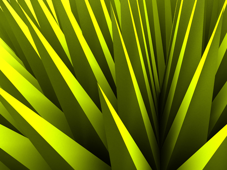 Abstract Triangle Chaotic Pattern Green Background. 3d Render Illustration Stock Photo