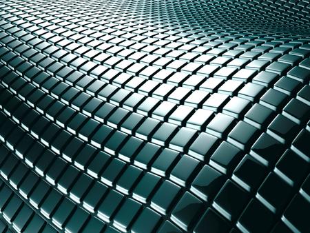 Black Abstract Metallic Cubes Background. 3d Render Illustration