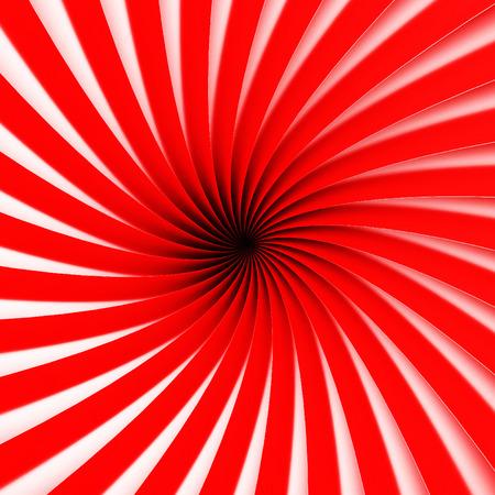 Abstract Spiral Stripe Pattern Tunnel Background. 3d Render Illustration
