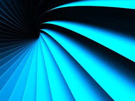 Elegance blue wave stripe glossy background. 3d render illustration