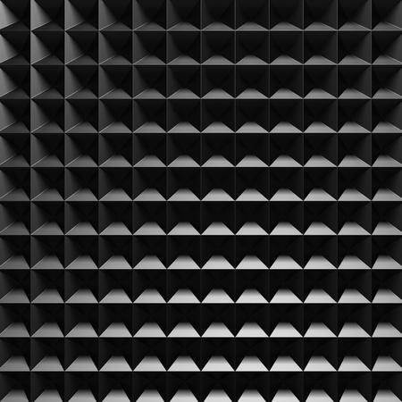 aluminium wallpaper: Dark Metallic Square Industrial Design Background. 3d Render Illustration