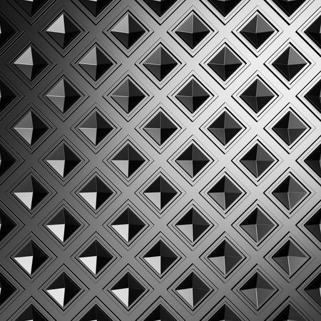hard: Dark Metallic Square Industrial Design Background. 3d Render Illustration