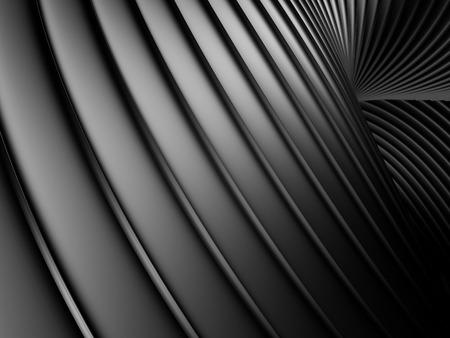 reiteration: Abstract silver aluminium stripe dark metallic background. 3d render illustration Stock Photo