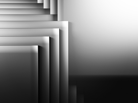 diagonals: Abstract Dark Metallic Cubes Wall Background. 3d Render Illustration