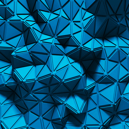 Abstract Triangle Chaotic Pattern Background. 3d render illustration