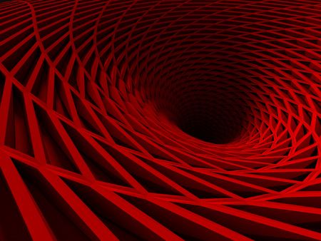 Red Futuristic Industrial Metallic Background. 3d Render Illustration Stock Photo