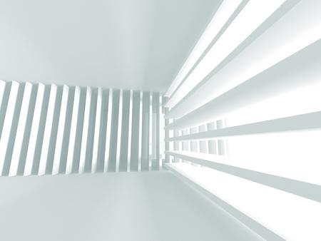 rectangle: Futuristic White Architecture Design Background. 3d Render Illustration Stock Photo