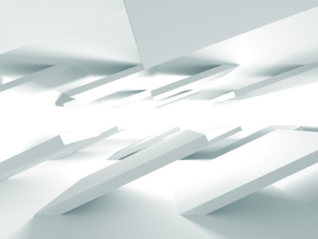 digital background: Abstract Modern White Architecture Background. 3d Render Illustration Stock Photo