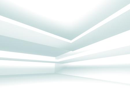 Futuristic White Architecture Design Background. 3d Render Illustration Stock Photo