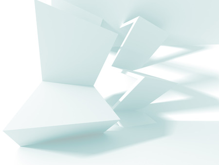 Abstract Modern White Architecture Background. 3d Render Illustration Stock Photo