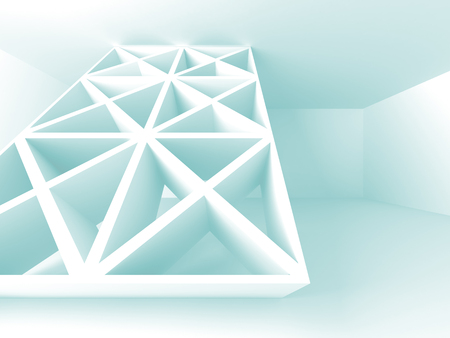 portone: Futuristic White Architecture Design Background. 3d Render Illustration Archivio Fotografico