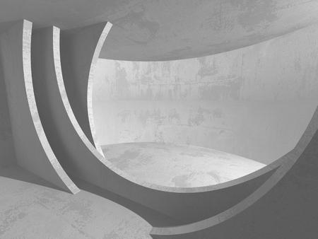Dark basement empty room interior. Concrete walls. Architecture background. 3d render illustration