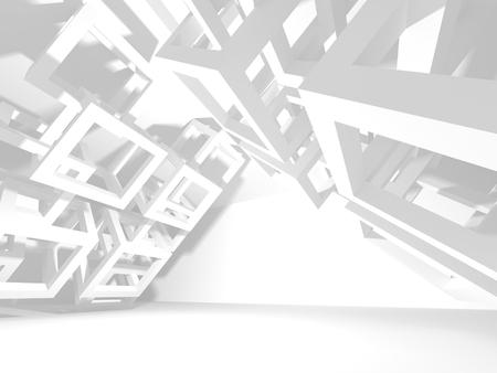 Abstracte architectuur moderne ontwerp achtergrond. 3d render illustratie Stockfoto